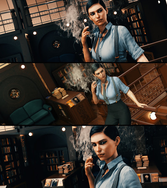 Satine Detective Outfit for Genesis 3 Female