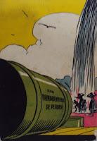 O poço do Visconde. Monteiro Lobato. Editora Brasiliense. Augustus (Augusto Mendes da Silva). Contracapa de Livro. Década de 1950. Década de 1960.