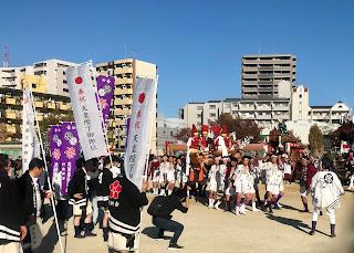 令和の門真の発展を願ってだんじり・太鼓台パレード」--- Hope and Well Wishes for Kadoma-shi in the New Reiwa Era Danjiri and Taiko Drum Parade (11/23/19) - pt.8 - The Finale: Battle!