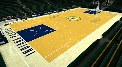 NBA 2K14 Indiana Pacers 2013-2014 Court Mod
