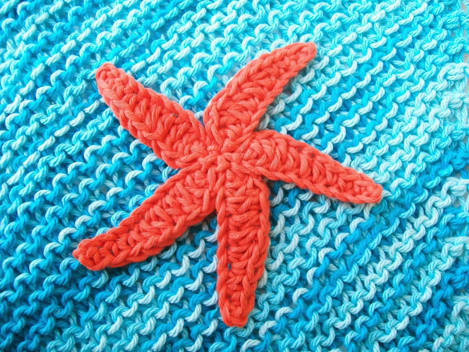 Knitted Starfish Pattern : Flower Girl Cottage : Free Starfish Crochet Pattern