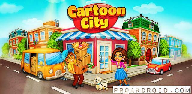 لعبة Cartoon City: farm to village v1.66 مهكرة كاملة للاندرويد (اخر اصدار) logo