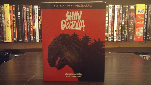front cover of the beautiful Shin Godzilla Blu-ray