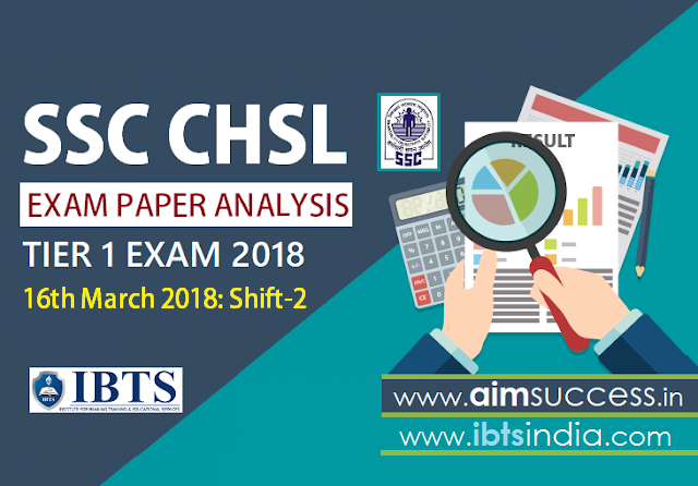 SSC CHSL Tier-I Exam Analysis 16th March 2018 Shift - 2