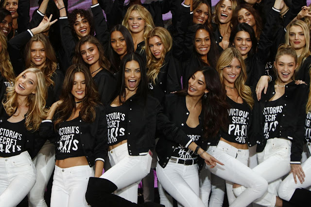 Victoria's Secret Models Photocall at The Grand Palais in Paris
