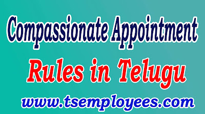 Compassionate Appointments Rules in Telugu