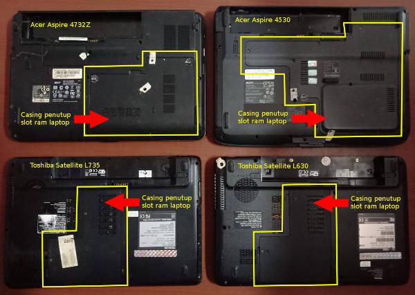 Tempat slot ram laptop desain tebal cara menambah ram laptop