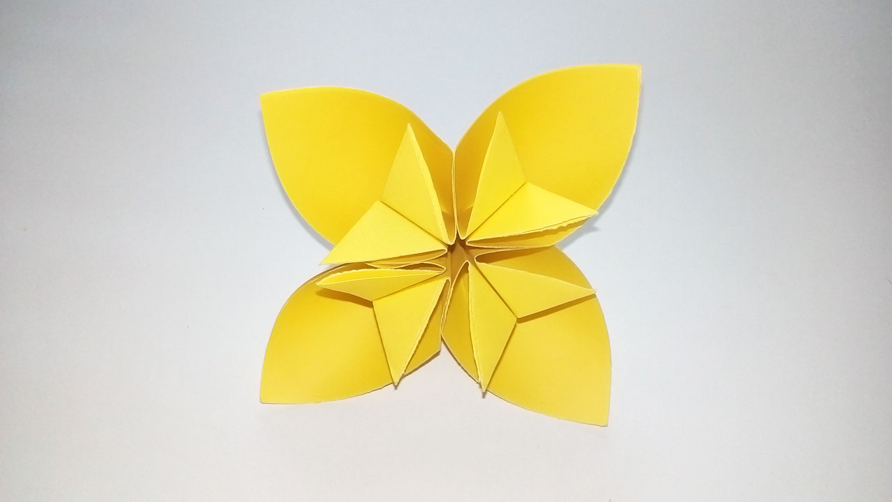 Easy Paper Origami Easy Origami Kusudama Flower How To Make A