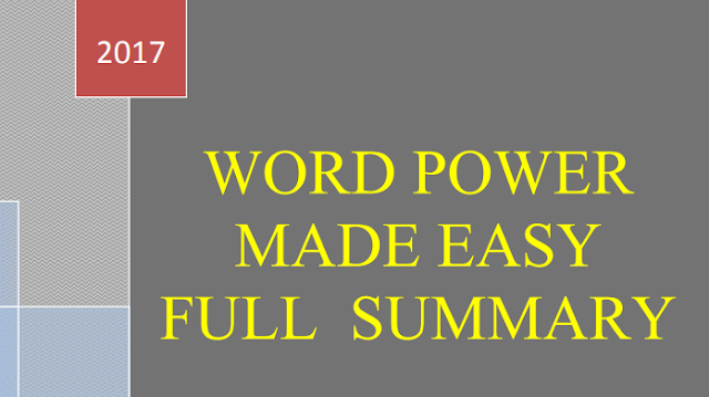 Download Word Power Made Easy Book Summary