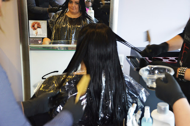 Prostowanie chemiczne włosów, STRUCTURE + SHINE, GoldWell, długotrwałe prostowanie, proste włosy
