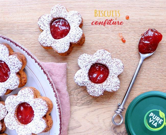 biscuits confiture recette