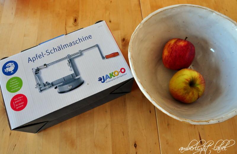Apfel Schälmaschine für Kinder - amberlight-label