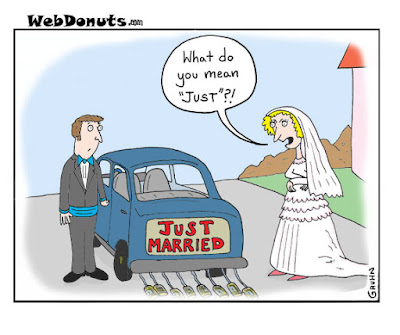 funny just married cartoon joke picture