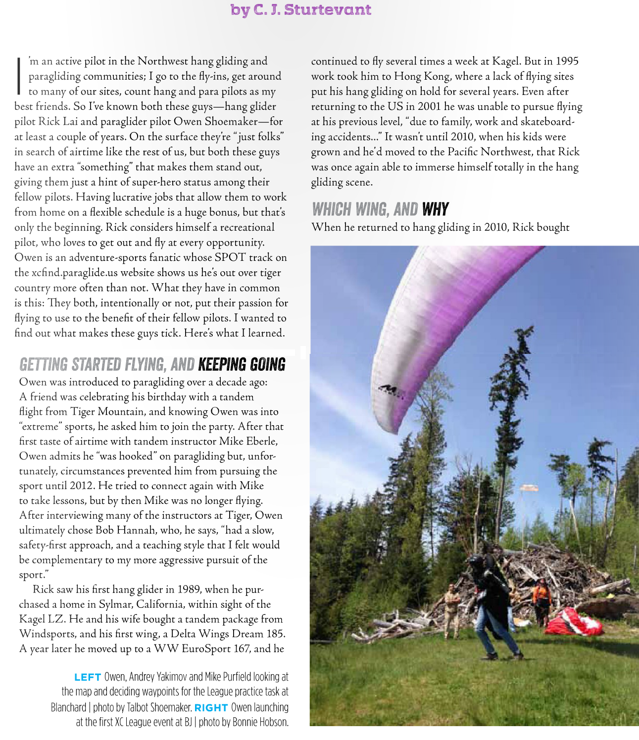Rick Lai's Hang Gliding report : My interview from the