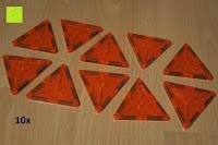 Dreieck orange: Playbees 100 Teile Magnetische Bausteine Set für 2D und 3D Form Konstruktionen, Regenbogenfarben Magnetspielzeug, Baukasten Magnetspiel, Magnetbausteine