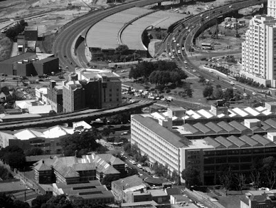 Cape Town, South Africa, unfinished bridge, Foreshore Freeway Bridge