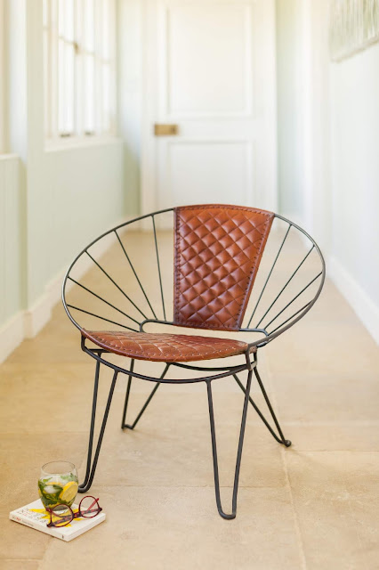 Quilted Leather Sunshine Chair