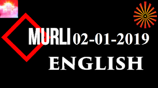 Brahma Kumaris Murli 02 January 2019 (ENGLISH)