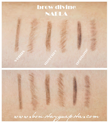 Brow Divine Nabla swatches