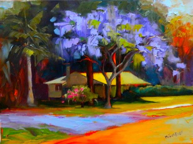 Jacaranda Tree Painting Oil