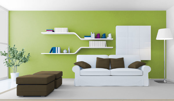 Warm Green, Media and Cold for Your Interior 1