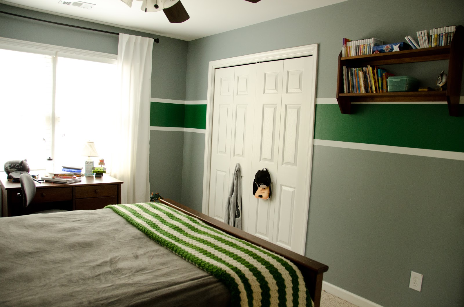 It Only Gets Better Cameron S New Green And Grey Bedroom