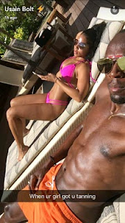 Usain Bolt shares pictures of his girlfriend Kasi Bennett on vacation