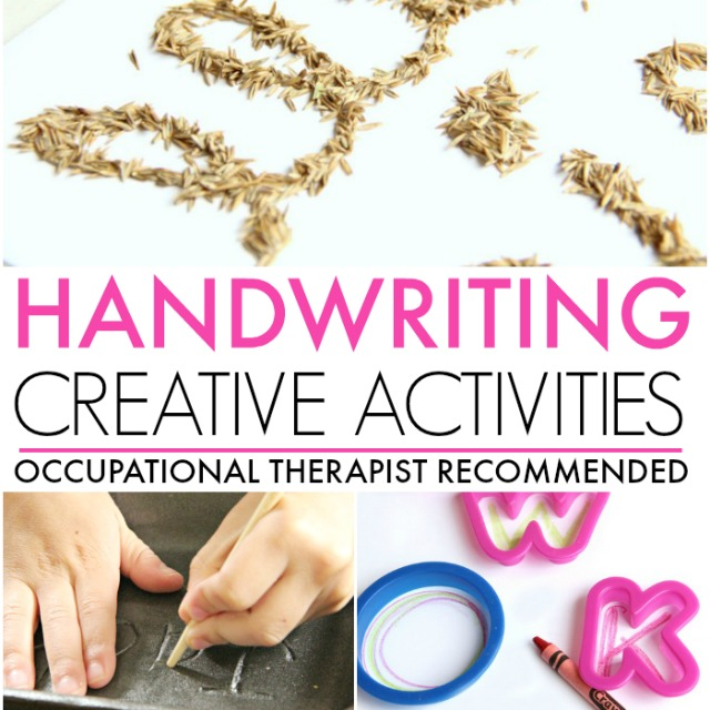 Handwriting activities for creative, hands-on learning handwriting for kids.  From an Occupational Therapist