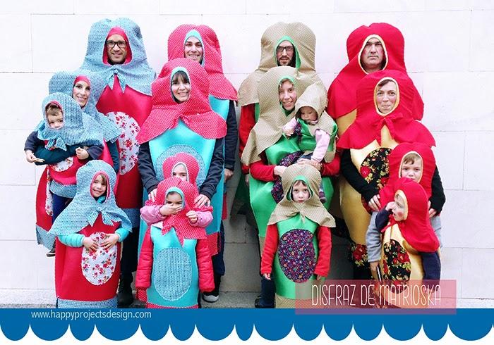 Disfraz original para familias: muñecas rusa
