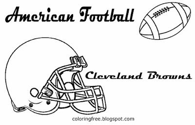 Simple image Cleveland Browns printable American North football drawing pictures for lads US sports
