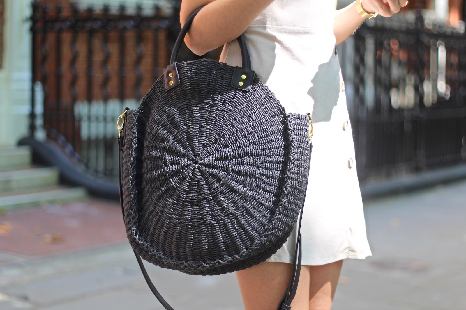 round straw bag next peexo blog