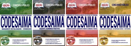 Apostila concurso CODESAIMA RR 2017