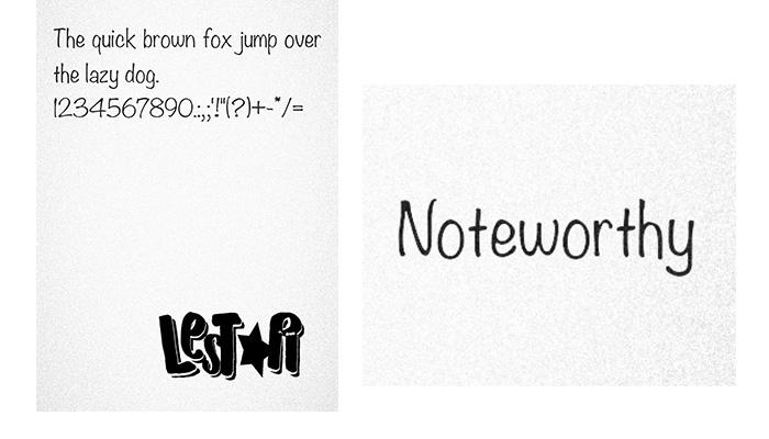 VIVO Font: Noteworthy ( itz) Font - Papa Eathan
