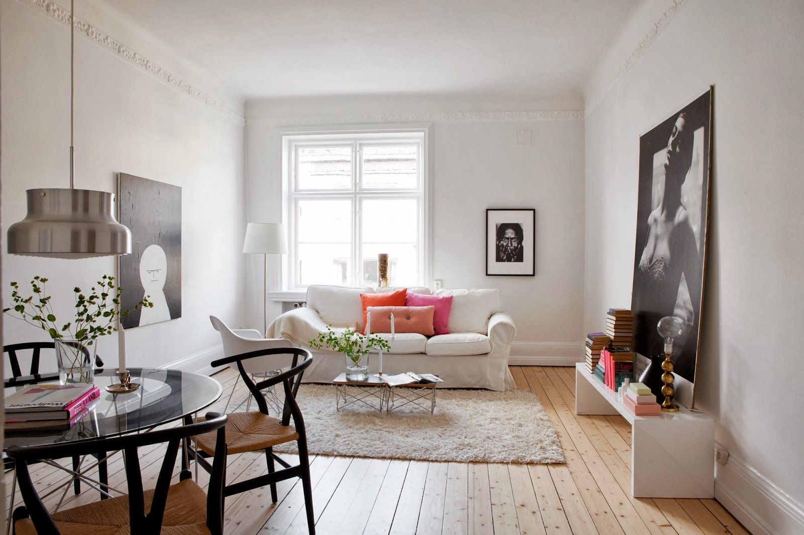 Interiors Bright Apartment in Malmo  Art And Chic