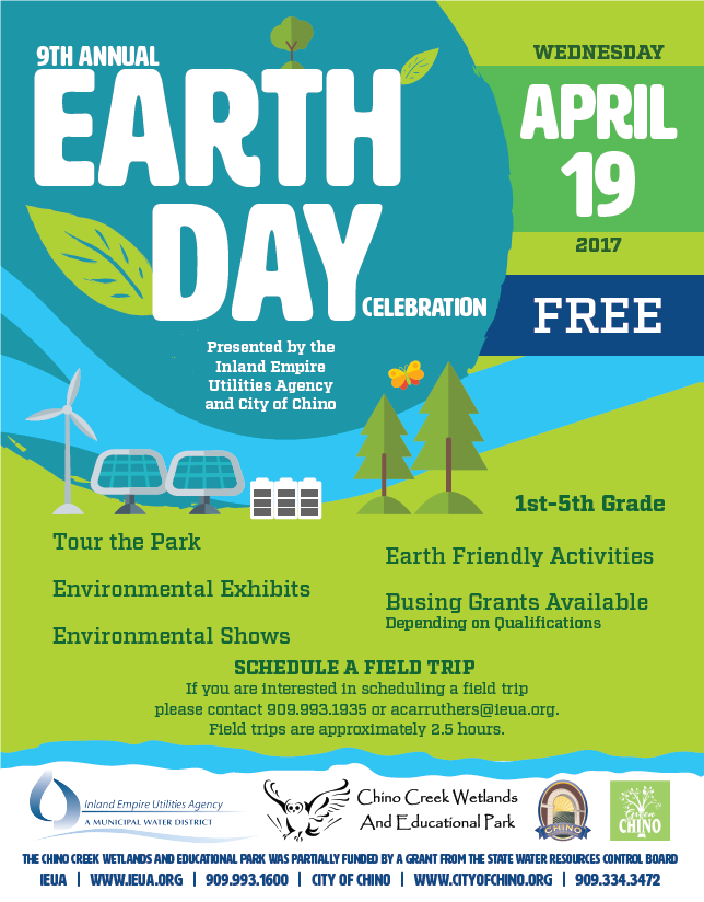Inland Empire Utilities Agencys Water Education Programs Earth Day
