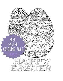Happy Easter coloring page - free printable - ldslane.net