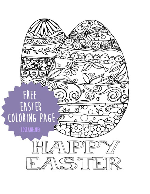Happy Easter coloring page - free printable - ldslane.net