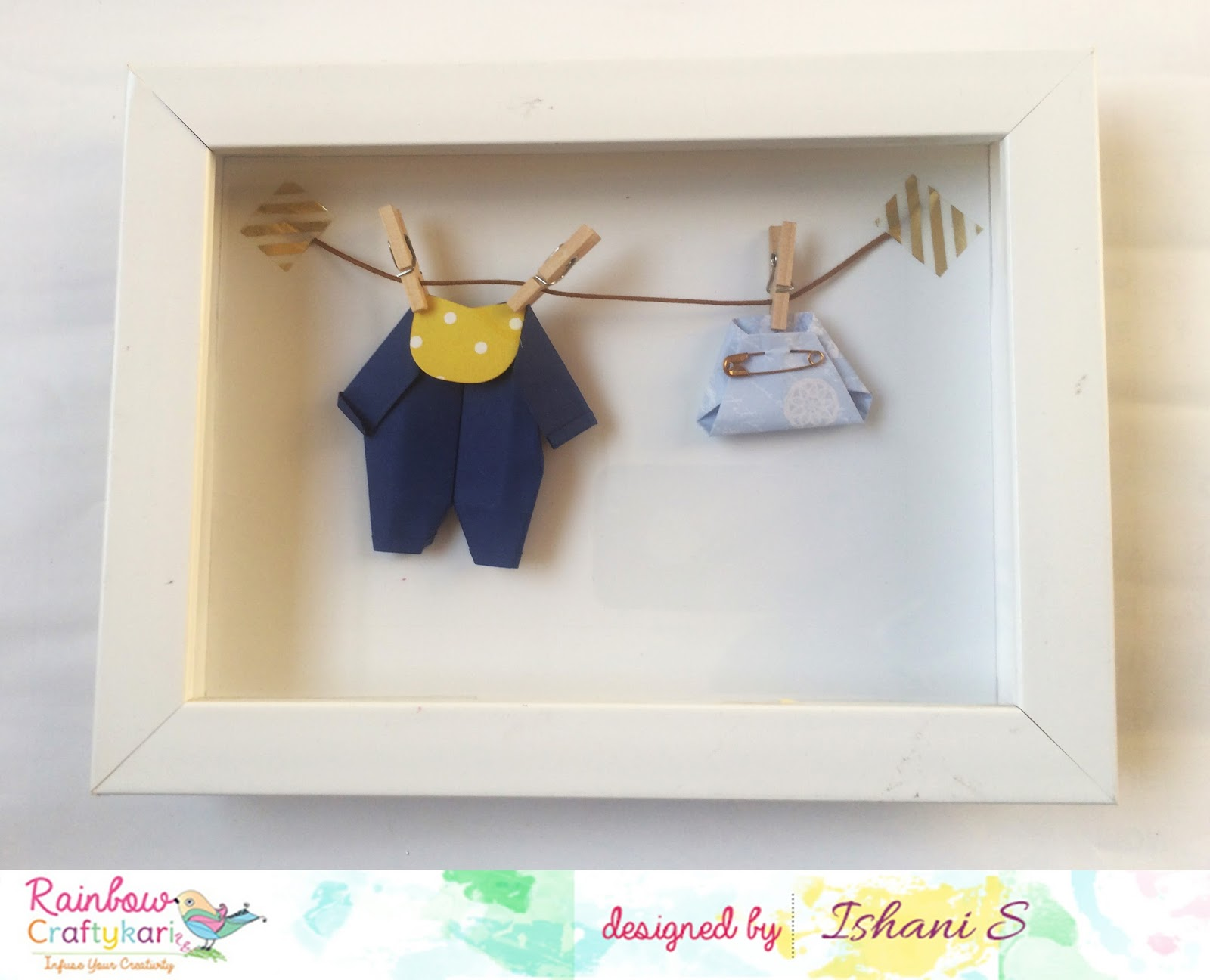 Welcome to Rainbow Craftykari Blog: Origami Shadow Box by DT Ishani