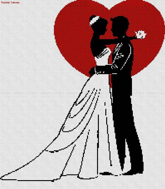 Dia dos Namorados Especial Em Ponto Cruz Com Gráficos36