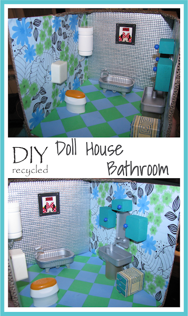DIY Doll House Bathroom Recycled