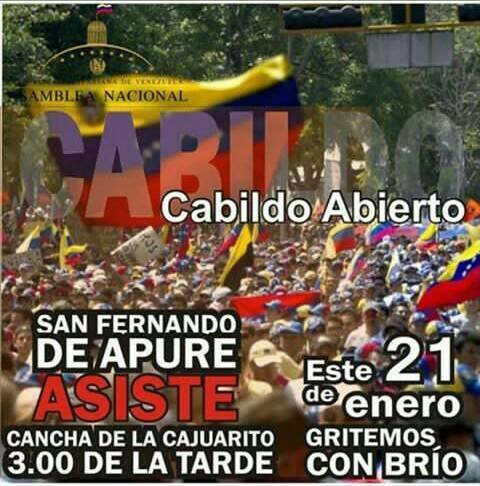 Convocan para cabildo abierto este lunes en la comunidad Cajuarito de San Fernando a las 3pm.