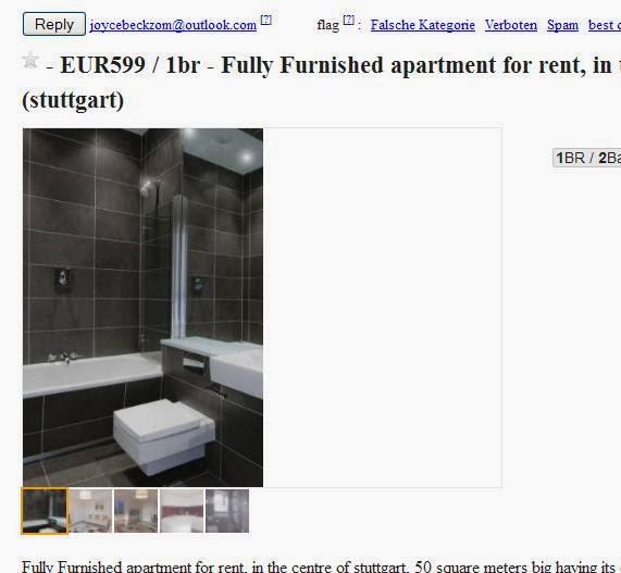Craigslist Rental Apartment: Wohnungsbetrug.blogspot.com: Joycebeckzom@outlook.com