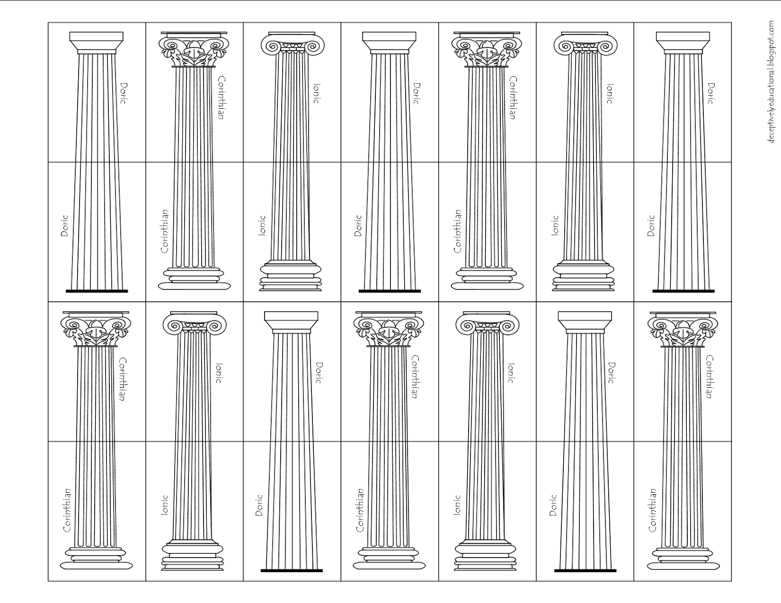 how to make fake greek columns