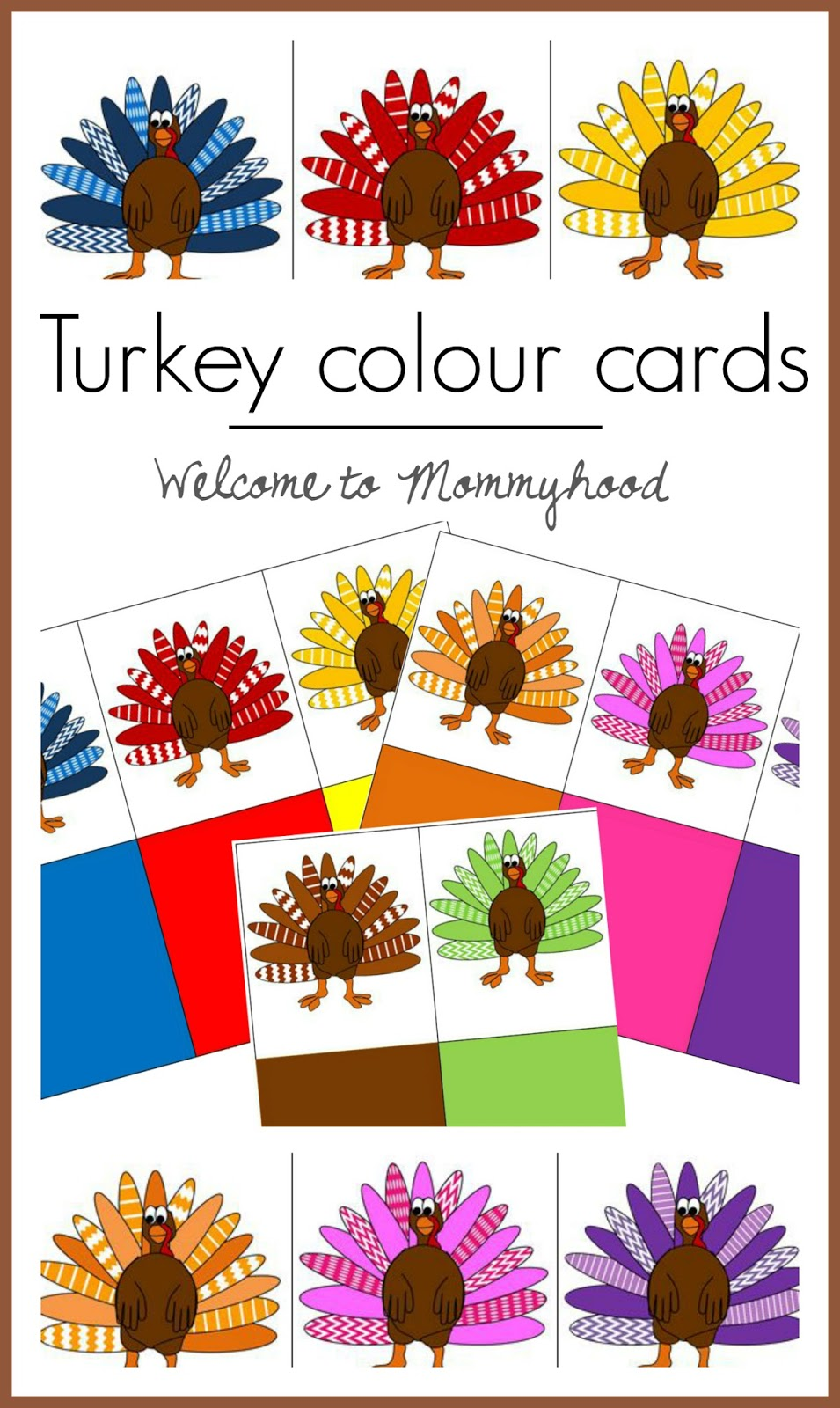 Turkey Colour Cards Welcome To Mommyhood
