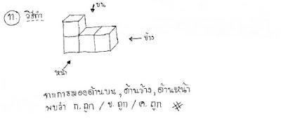 เฉลยคณิตศาสตร์ โอเน็ต ม.3 ปี 2559 ข้อ 11