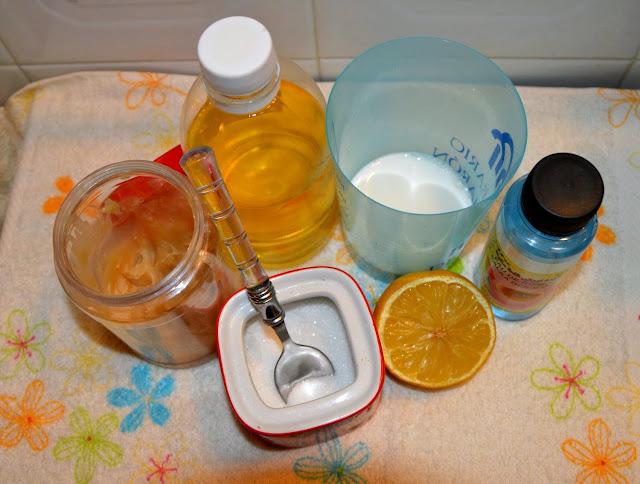 Peeling cukrowy i olejek arganowy - składniki