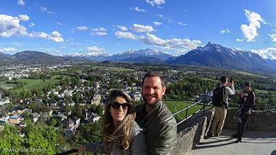 Vista do alto da Fortaleza Hohensalzburg, Salzburg, Áustria