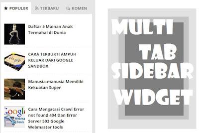 Cara Mudah Membuat widget Multi Tab SIdeBar Di Blog
