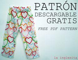1748f0f2e4 LICENCIA PARA COSER  Tutorial pantalón pijama para niños por  La ...
