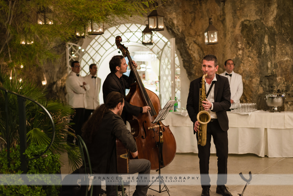 Wedding band at hotel santa Caterina